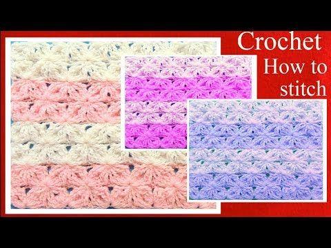 Aprende a tejer fácil a Crochet punto de lazos con alto relieve How ...