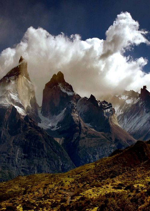 Los Cuernos (The Horns) del Paine, Torres del Paine National Park, Patagonia, Chile.