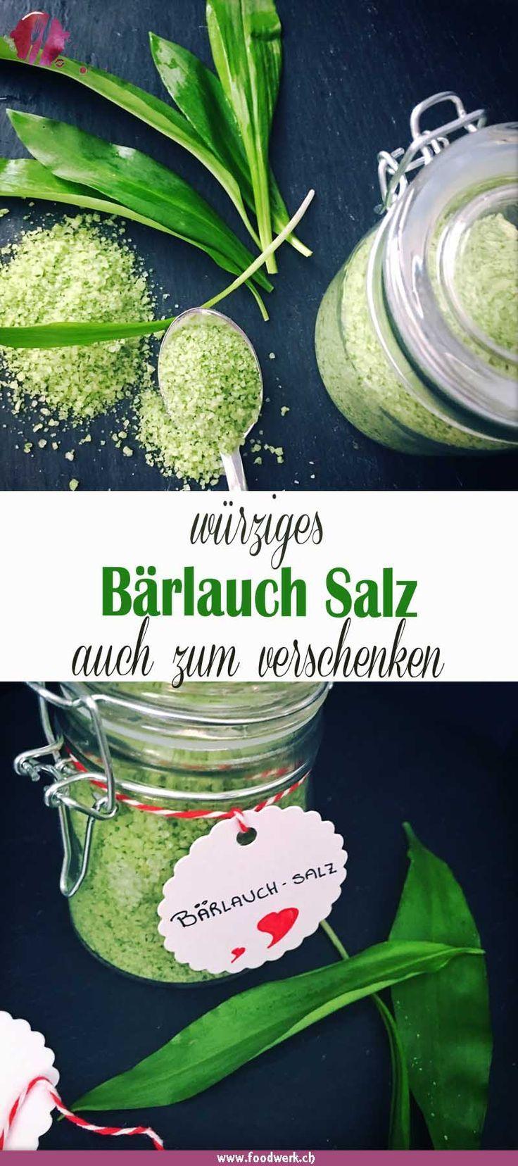 Bärlauch Salz, so hast du das ganze Jahr Frühling im Glas