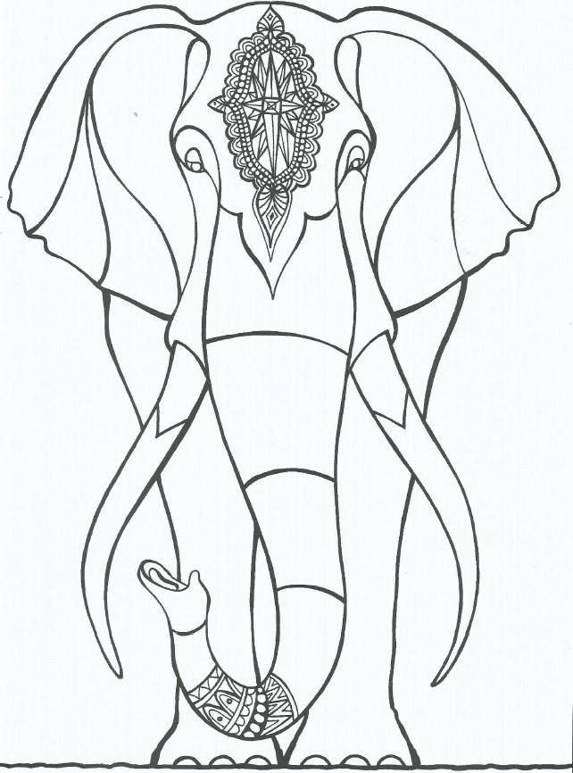 elephant | ✐Adult Colouring~Elephants~Zentangles | Pinterest ...