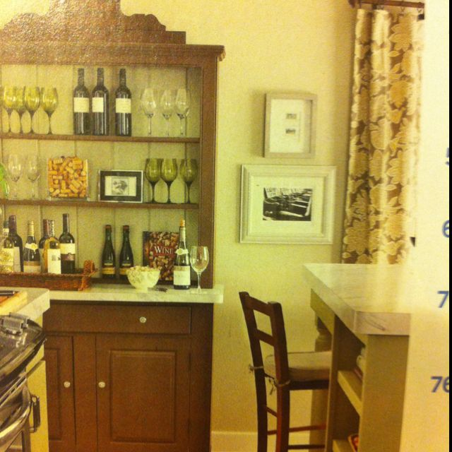 Room Convert A Hutch Into Wine Bar