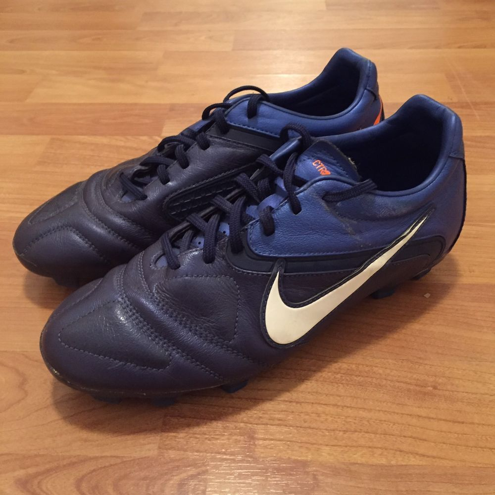 Nike CTR360 Libretto II FG Football Soccer Boots Blue Orange Mens 8.5US  7.5UK |