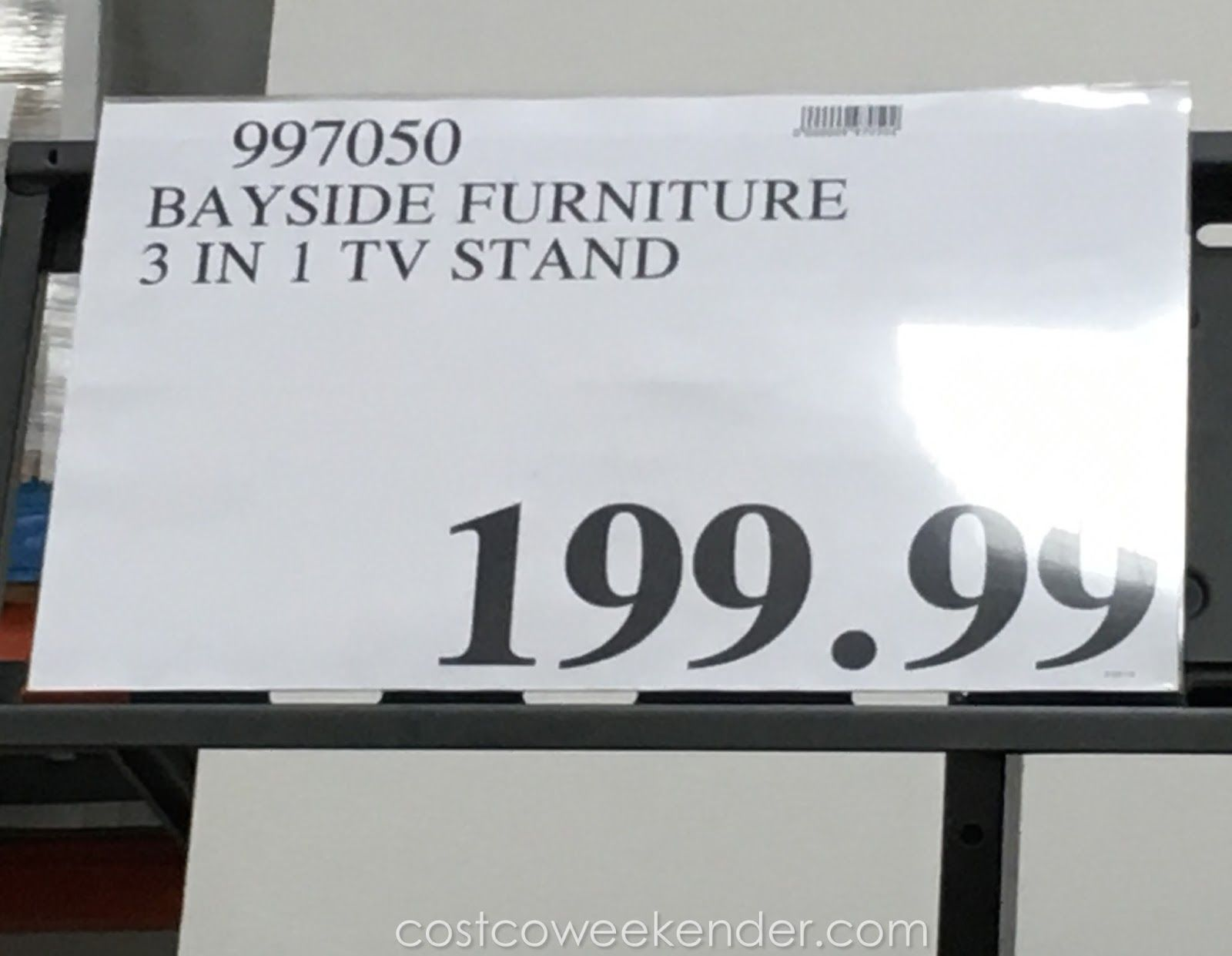 Costco 997050 Bayside Furnishings 3 In 1 Tv Stand For The Home