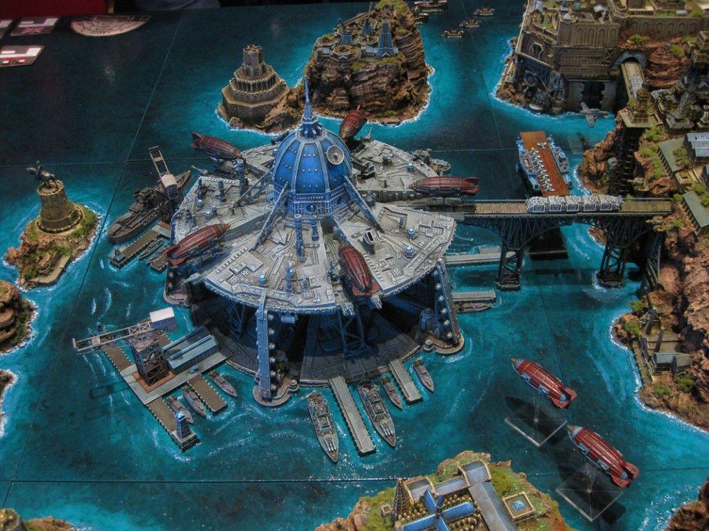 1 1200 Scale Dystopian Wars Board In Hamburg Germany Model Terrain Wargaming Dystopian