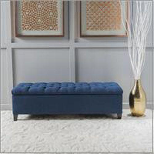 Magnificent Sophia Dark Blue Storage Ottoman In 2019 Fabric Storage Pdpeps Interior Chair Design Pdpepsorg