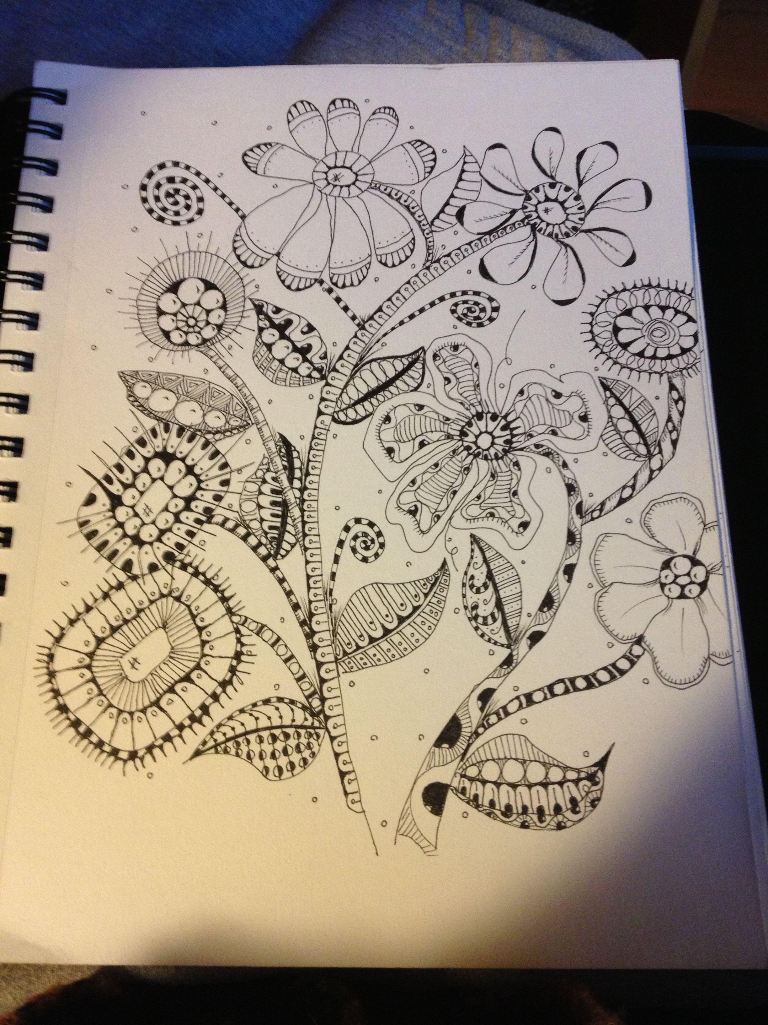 Zentangle My Flower Garden!!