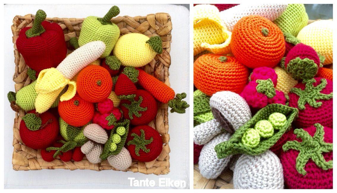Amigurumi Vegetables : Amigurumi vegetables and fruits playfood h�kel obst