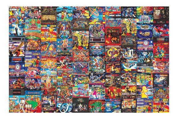 Pinball Parlor Retro Arcade Puzzle 1000 Piece Jigsaw Puzzle Retro Arcade Retro Arcade Games Pinball