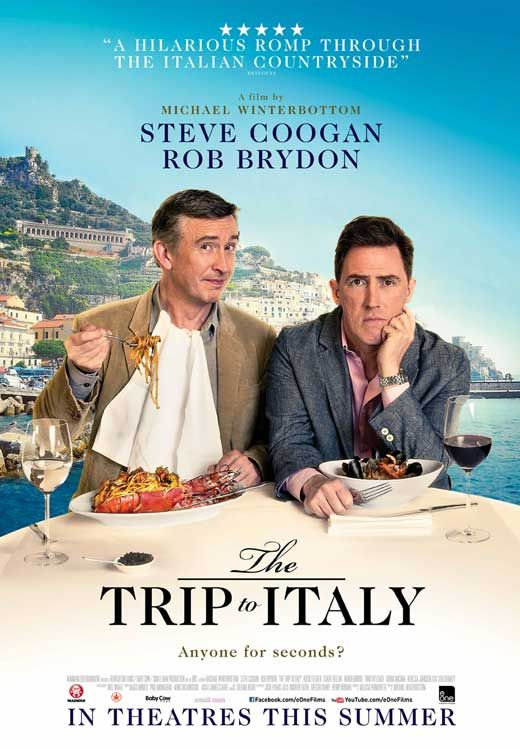 The Trip to Italy (2014) - Synopsis:Two men, six meals in six different places on a road trip around Italy. Liguria, Tuscany, Rome, Amalfi and ending in Capri.