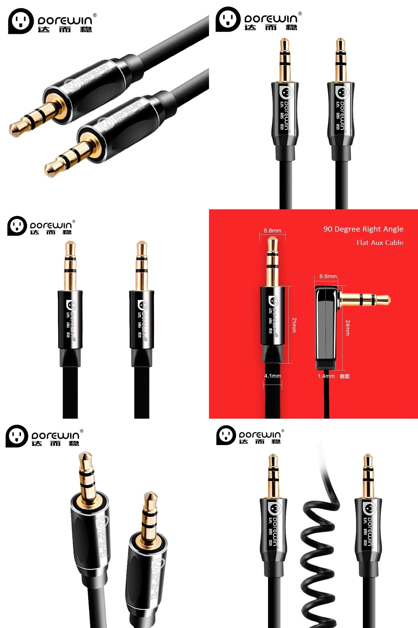 Visit To Buy Dorewin 3 5mm Jack Audio Cable Male To Male 90 Degree Right Angle Flat Aux Extension Cable For Iphone Car Headpho Jack Audio 90 Degrees Male To Male