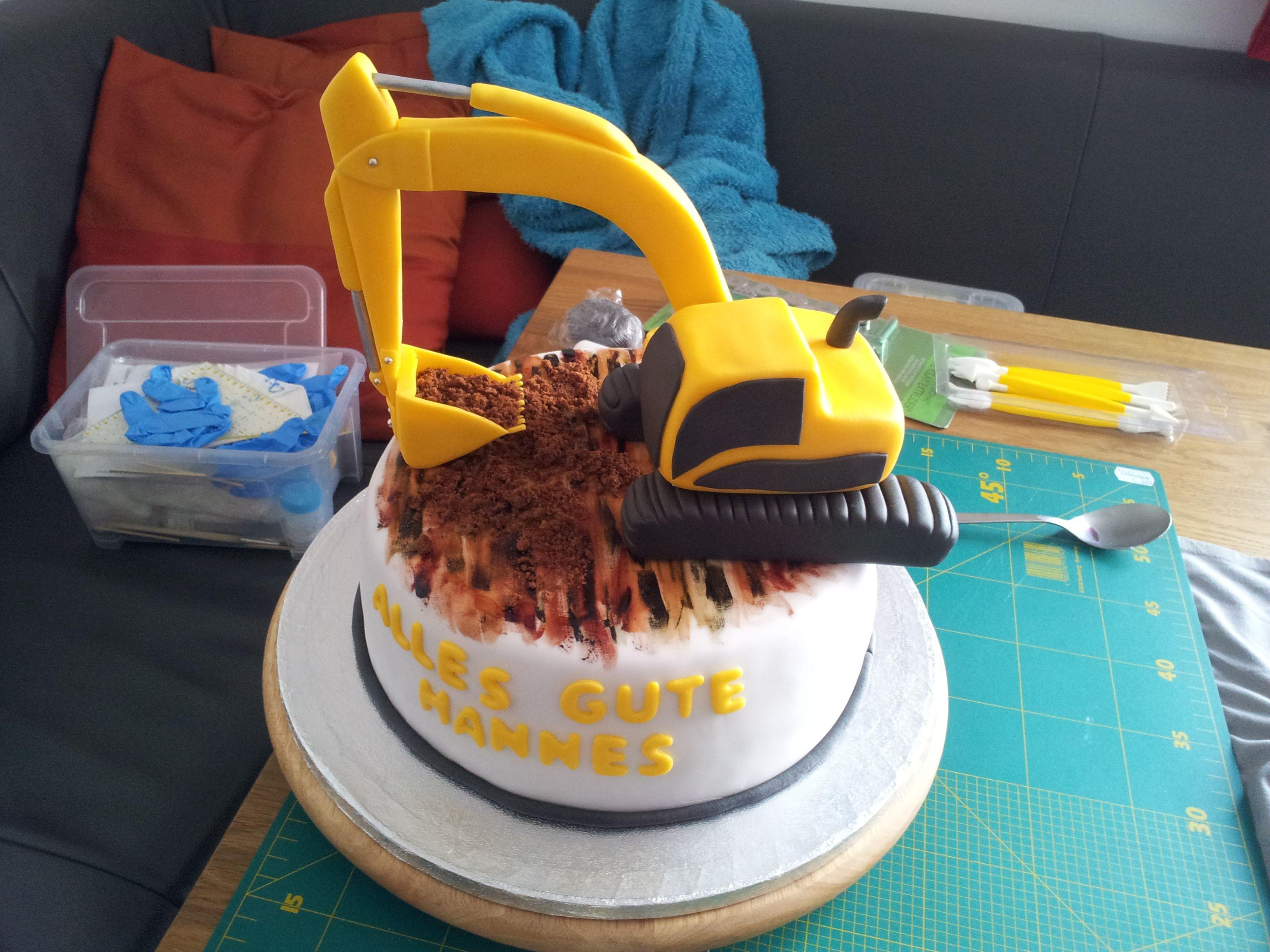 Digger Cake Kinder Geburtstag Kuchen Geburtstag