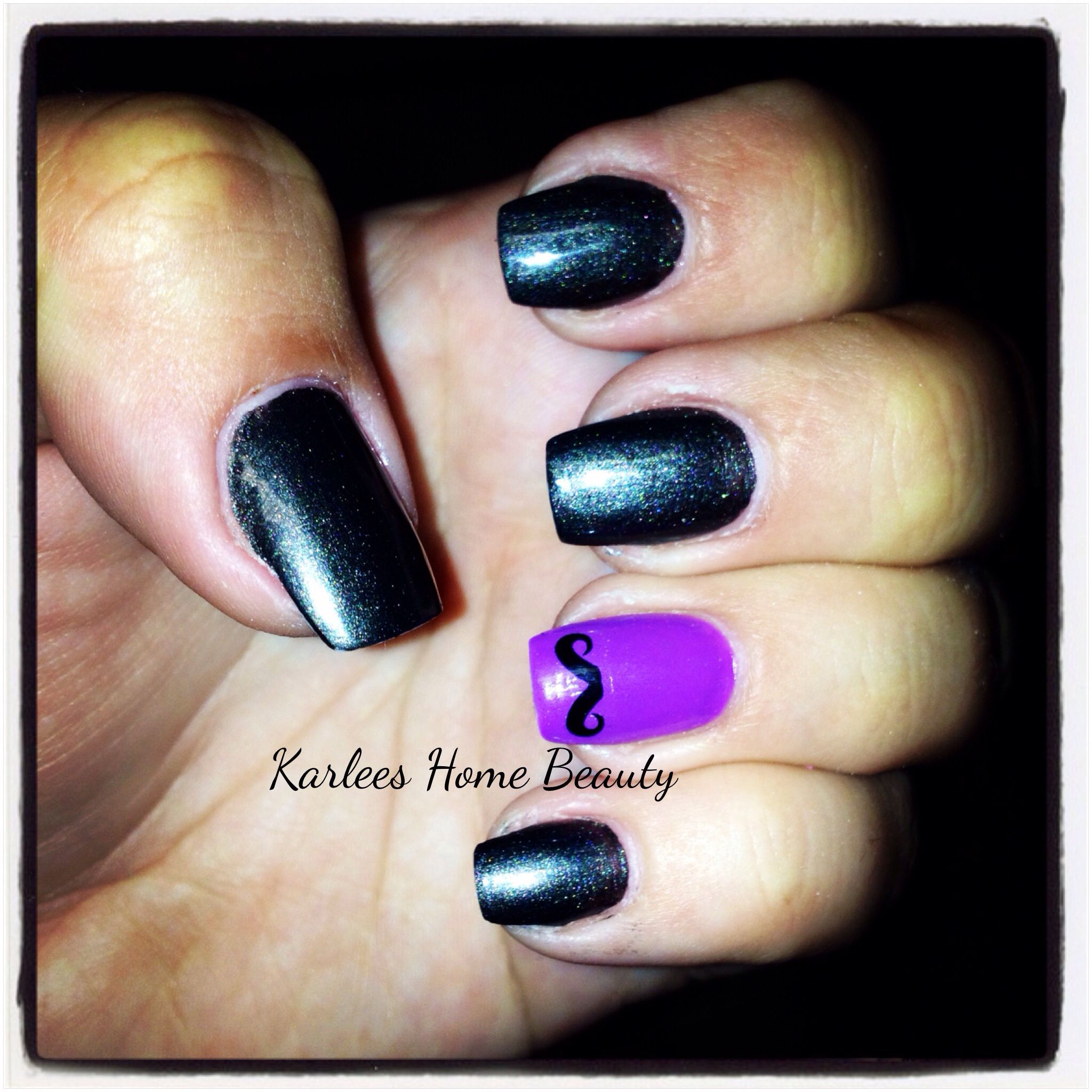 Klean Color nail lacquer in Charcoal and Lavenbaby. | Nails done on ...
