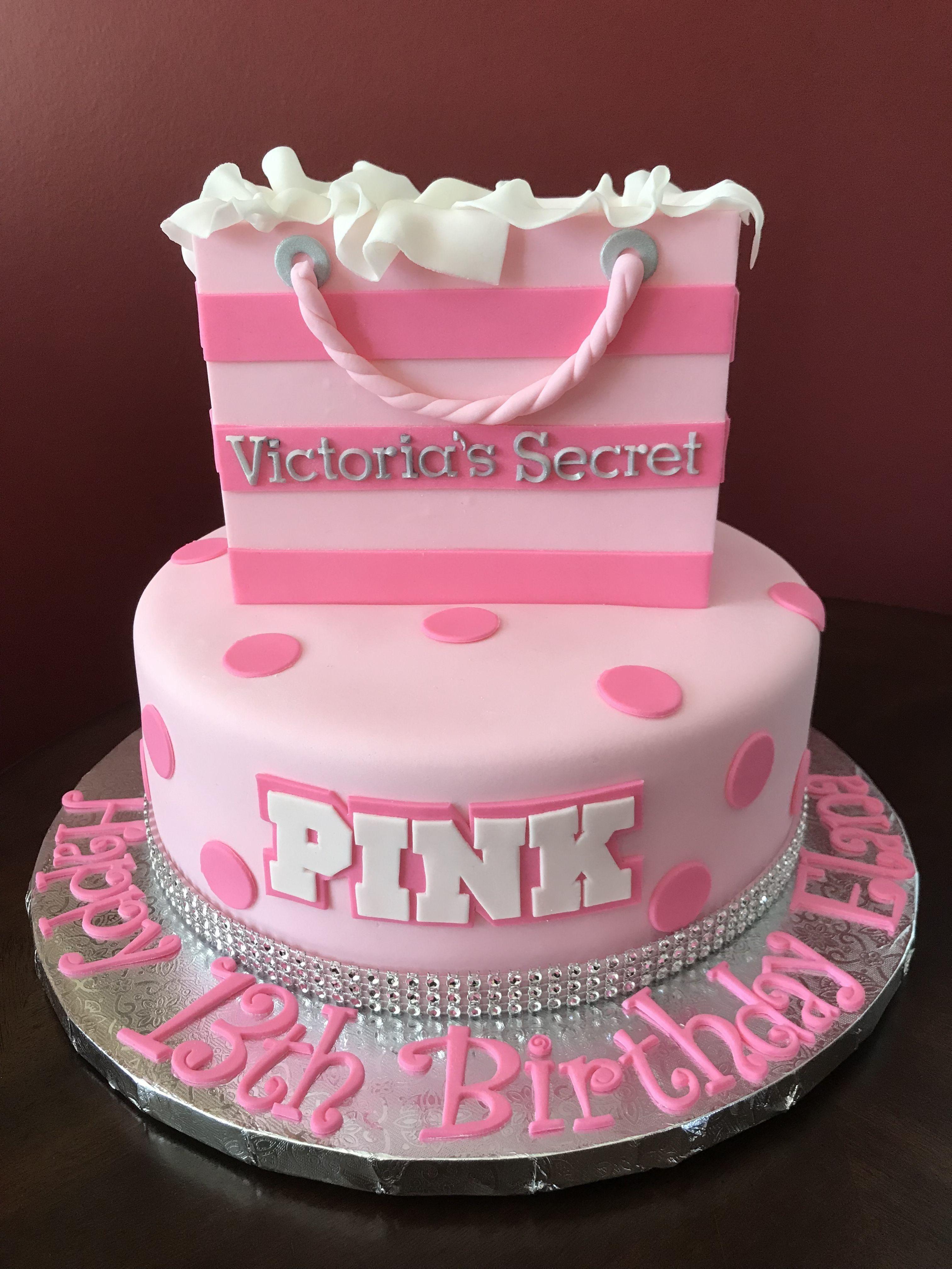 Strange 32 Wonderful Image Of Pink Birthday Cake With Images Pink Personalised Birthday Cards Beptaeletsinfo