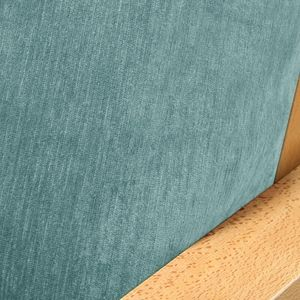Chenille Ice Blue Futon Cover
