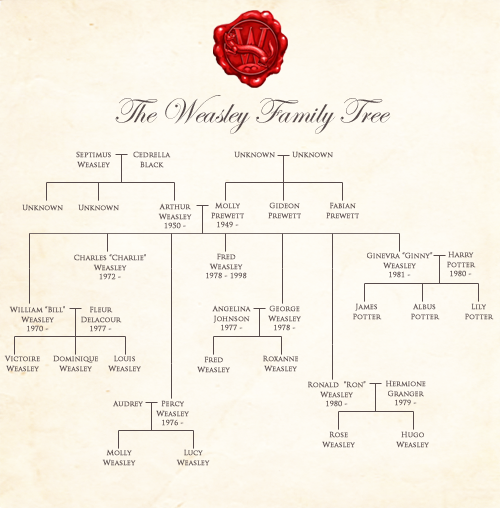 Weasley family tree all things harry potter pinterest harry potter hogwarts and harry - Dallas tv show family tree ...