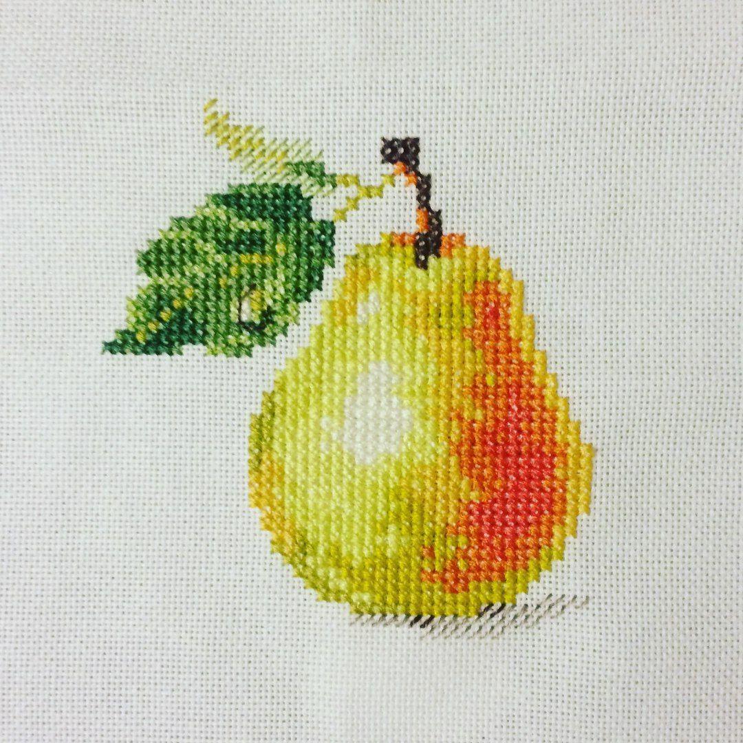 рыбка, картинка для вышивания фрукты втором