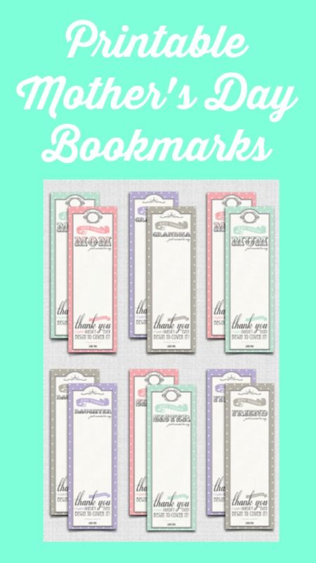 mother 39 s day books mom will love printable bookmarks best of thrifty jinxy free. Black Bedroom Furniture Sets. Home Design Ideas