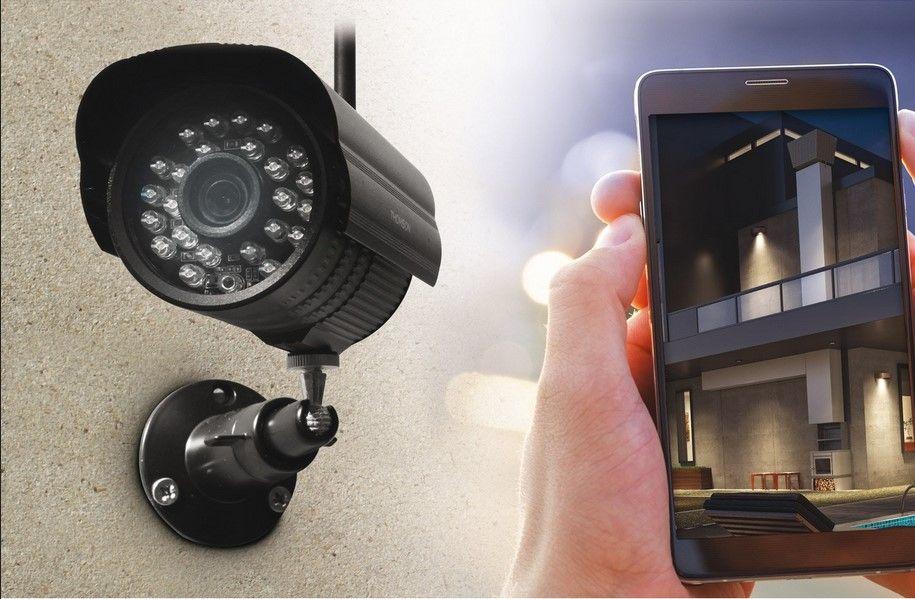 Kit de vidéosurveillance connecté sans fil THOMSON Dvr423b, Caméra - Cuisine Exterieur Leroy Merlin