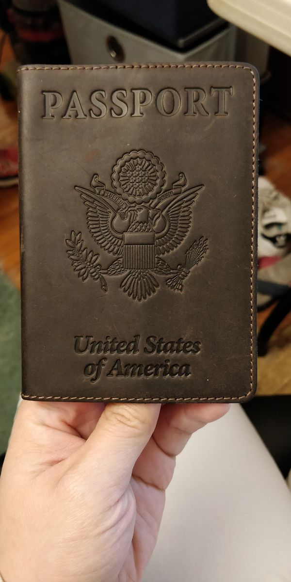 Real Leather Passport Cover For Sale In Rochester Ny Real