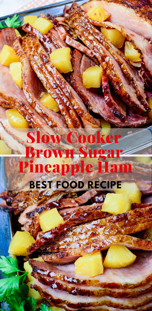 Slow Cooker Brown Sugar Pineapple Hambest Food