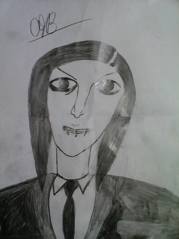 Chris Motionless drawing by me