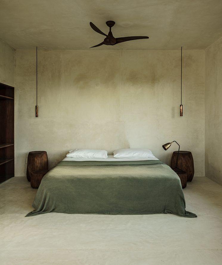 Bedrooms Maisons de terre Wabi sabi