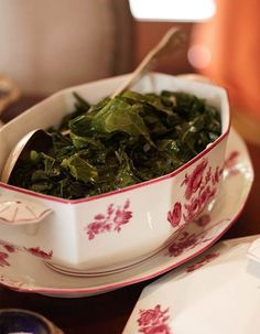 Collard Greens with Garlic and Bacon is an undeniably Southern dish. - Traditional Home ®/ Photo: Colleen Duffley