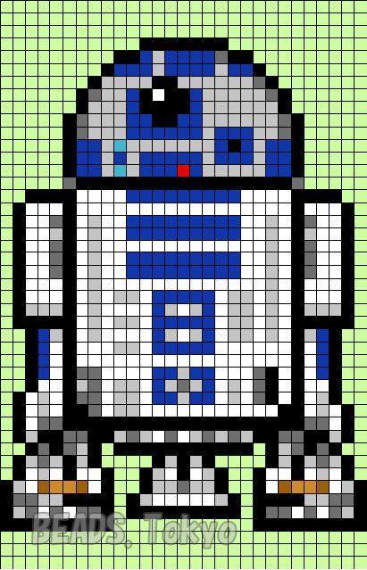 R2d2 Star Wars Perler Bead Pattern Beads Tokyo Star