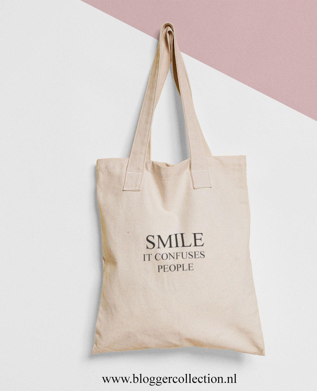 f2548a0d17f Canvas tassen met tekst - Katoen - Quotes - Tote - Tas - Bags ...