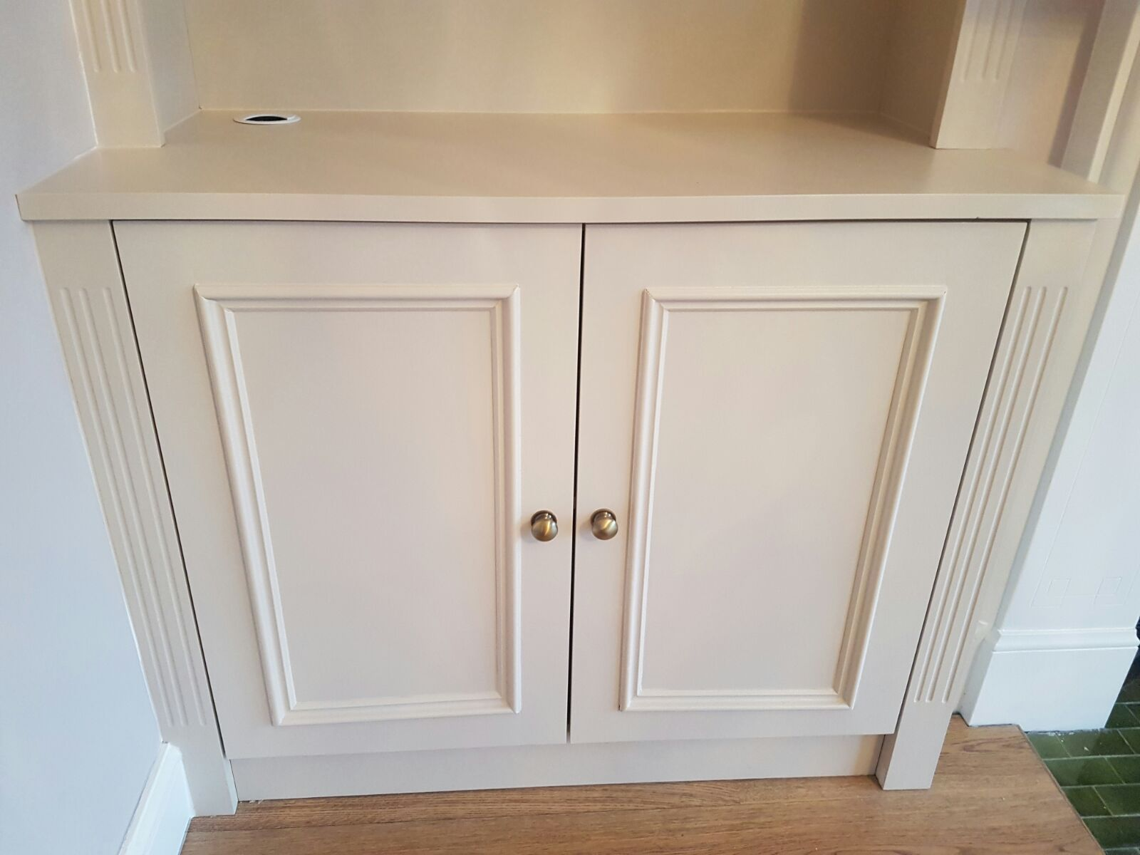 how to build a cupboard in an alcove
