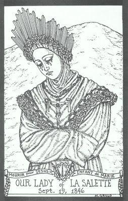 Nossa Senhora De La Salette Com Imagens Arte Catolica Line