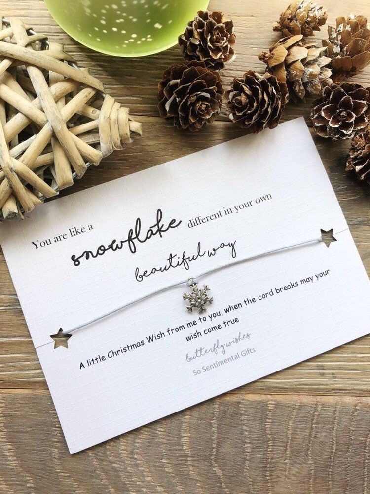Snowflake Bracelet Christmas Wish Bracelet Christmas Eve Bracelet Cord Snowflake Bracelet