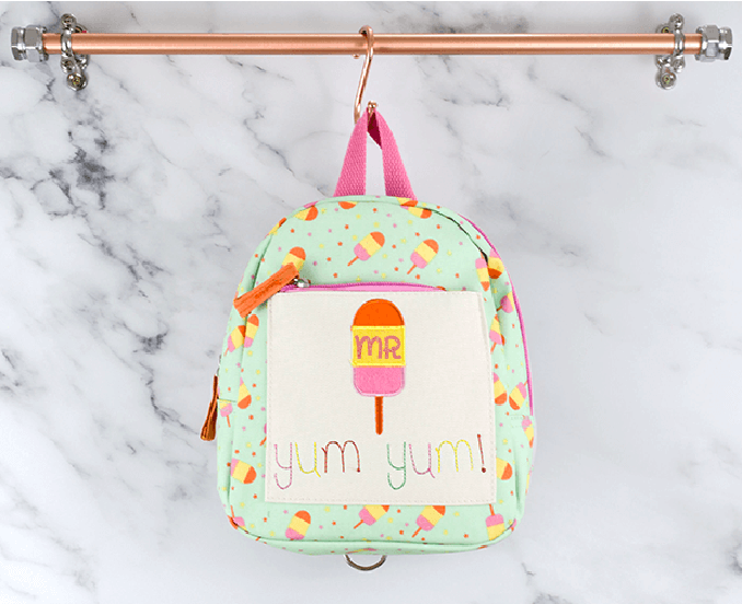 Buy Personalised Backpack Ice Lolly Design by Sonality at