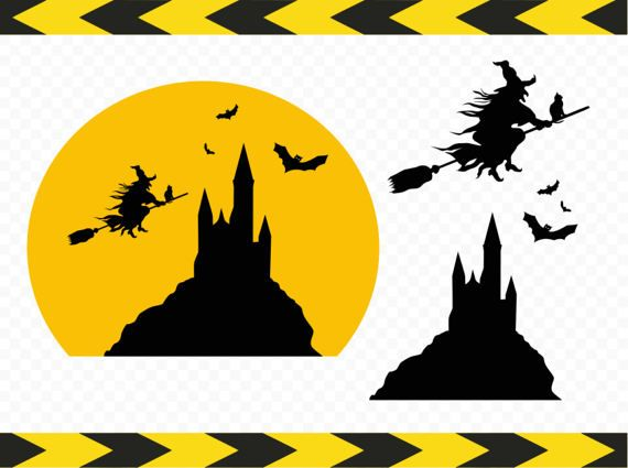 Witch Castle SVG Clipart Wall decal Scrapbook Printables Cut files ...