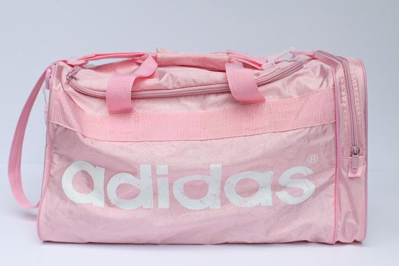2f468156ee Large pink adidas duffle bag by thisvintagething on Etsy