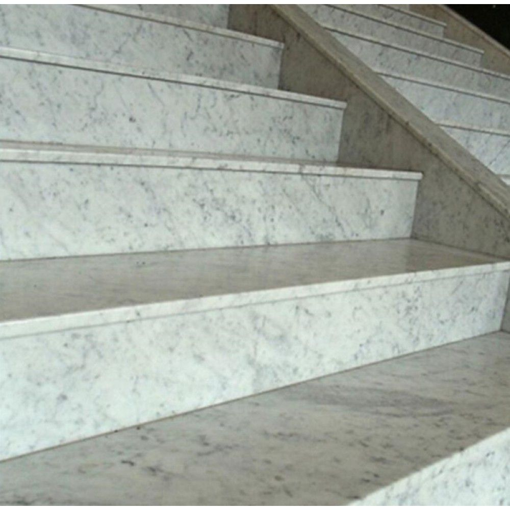 Best Grooved Natural Stone Bianco Carrara White Marble Stair 400 x 300