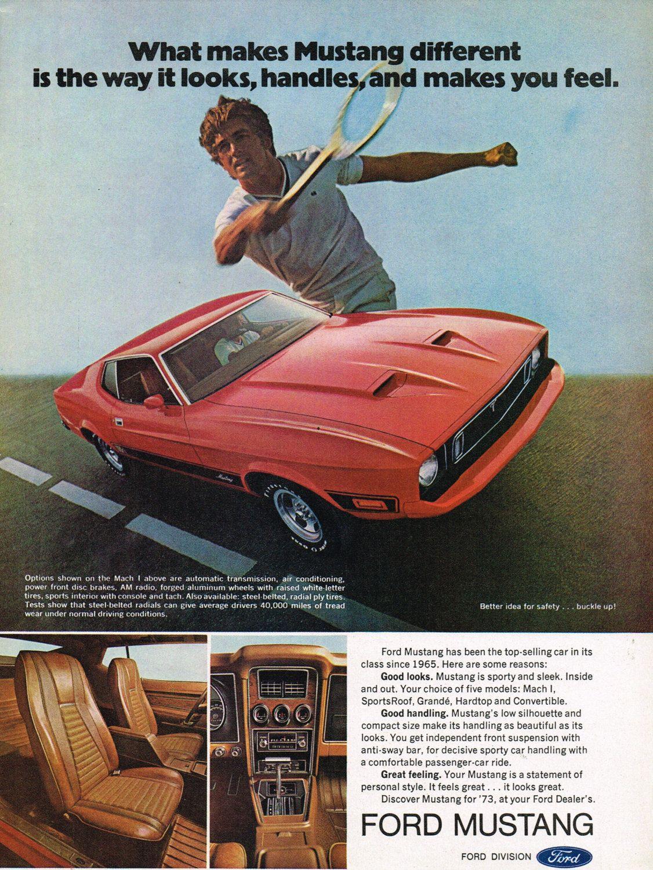 1973 Mustang Mach I Car Print Ad Poster Art Avtomobili Vintazhnyj Stil Stil