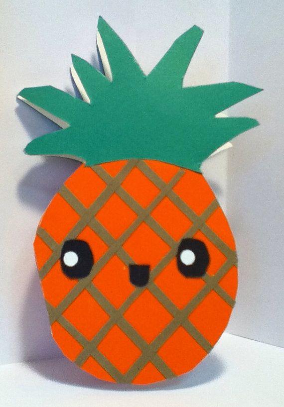 Handmade Kawaii Pineapple Card Cardstock by justcreativecards, $3.50