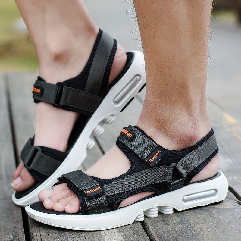 Summer Sports Sandals Mens Outdoor Casual Ankle Strap Open Toe Sandals Shoes B
