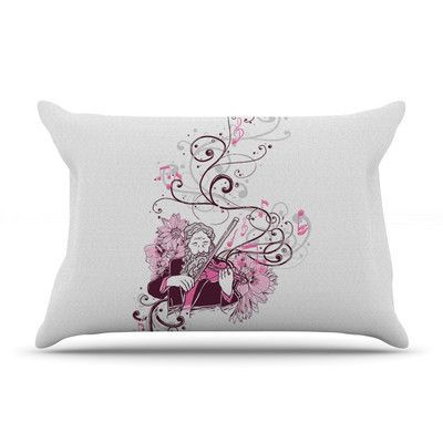 East Urban Home Violinist by Tobe Fonseca Featherweight Pillow Sham