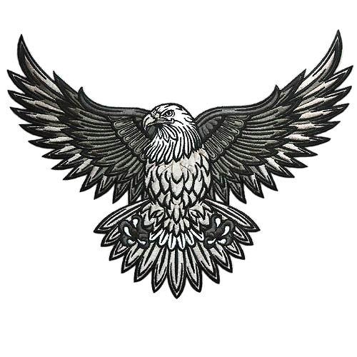 Pygargue A Tete Blanche Design Tattoo In 2020 Bald Eagle Tattoos Eagle Tattoo Biker Tattoos