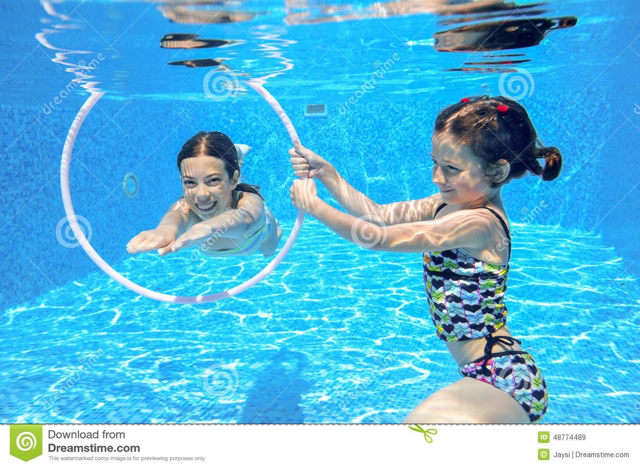 Kids Swim In Pool Underwater Stock Image Image Of Sport Girls Kids Swimming Girls Swimming Swimming Posters