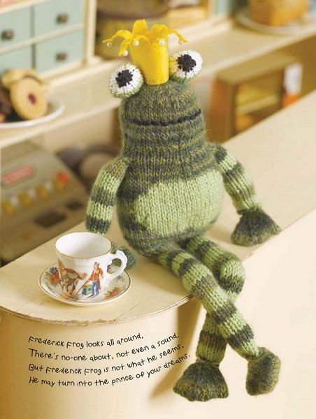 Frederick The Frog Prince Toy Knitting Pattern Download Download