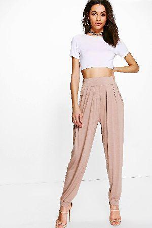6c2d078cb440 #boohoo Pleat Front Jersey Hareem Trouser - sand DZZ56607 #India Pleat  Front Jersey Hareem