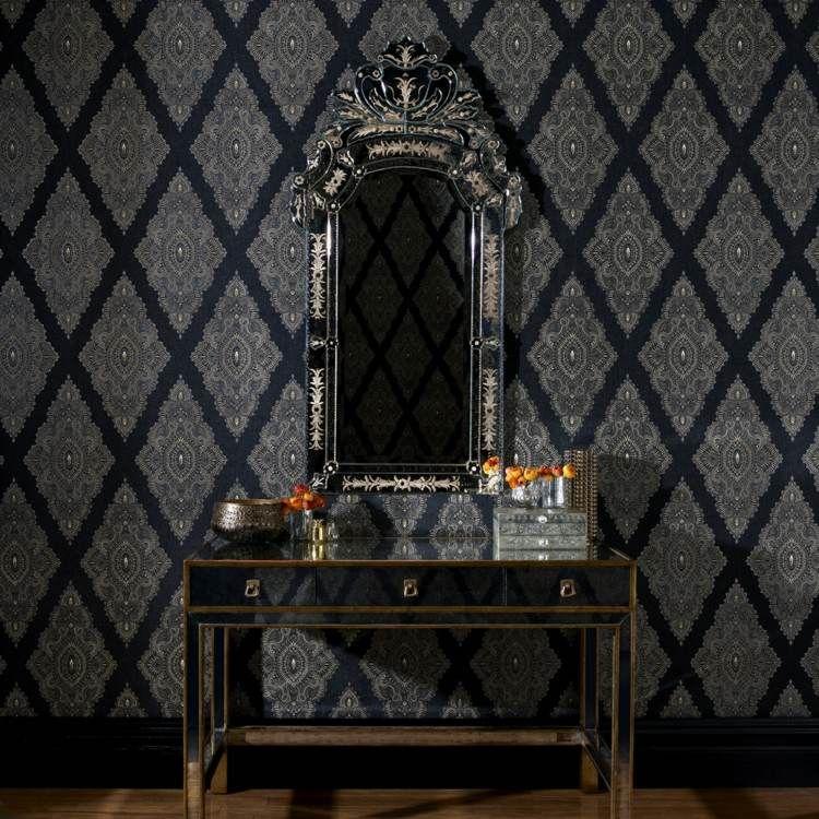 Papier peint noir - 40 idées pour un design mural spectaculaire
