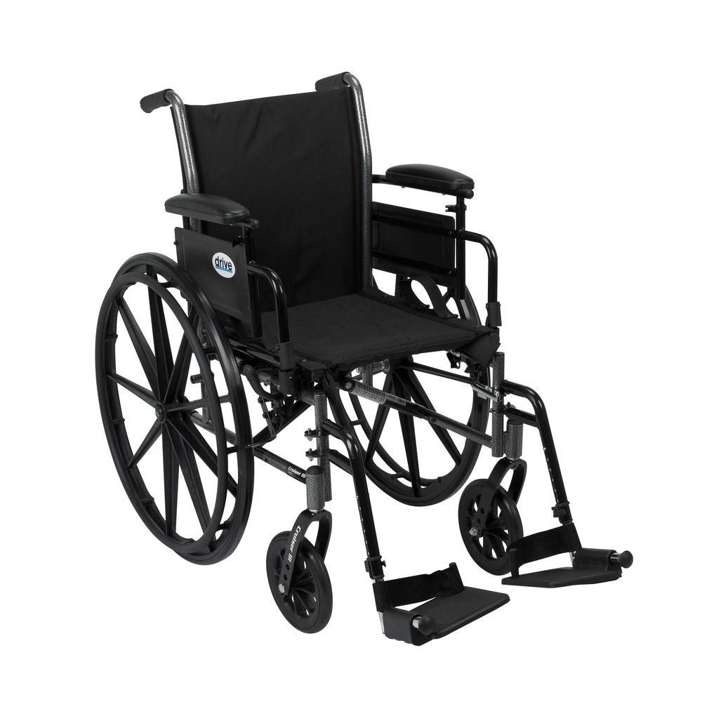 Drive Cruiser Iii Wheelchair With Removable Flip Back Arms Adjustable Desk Arms And Swing Away Footrest K316adda Sf In 2020 Lightweight Wheelchair Adjustable Height Desk Wheelchair
