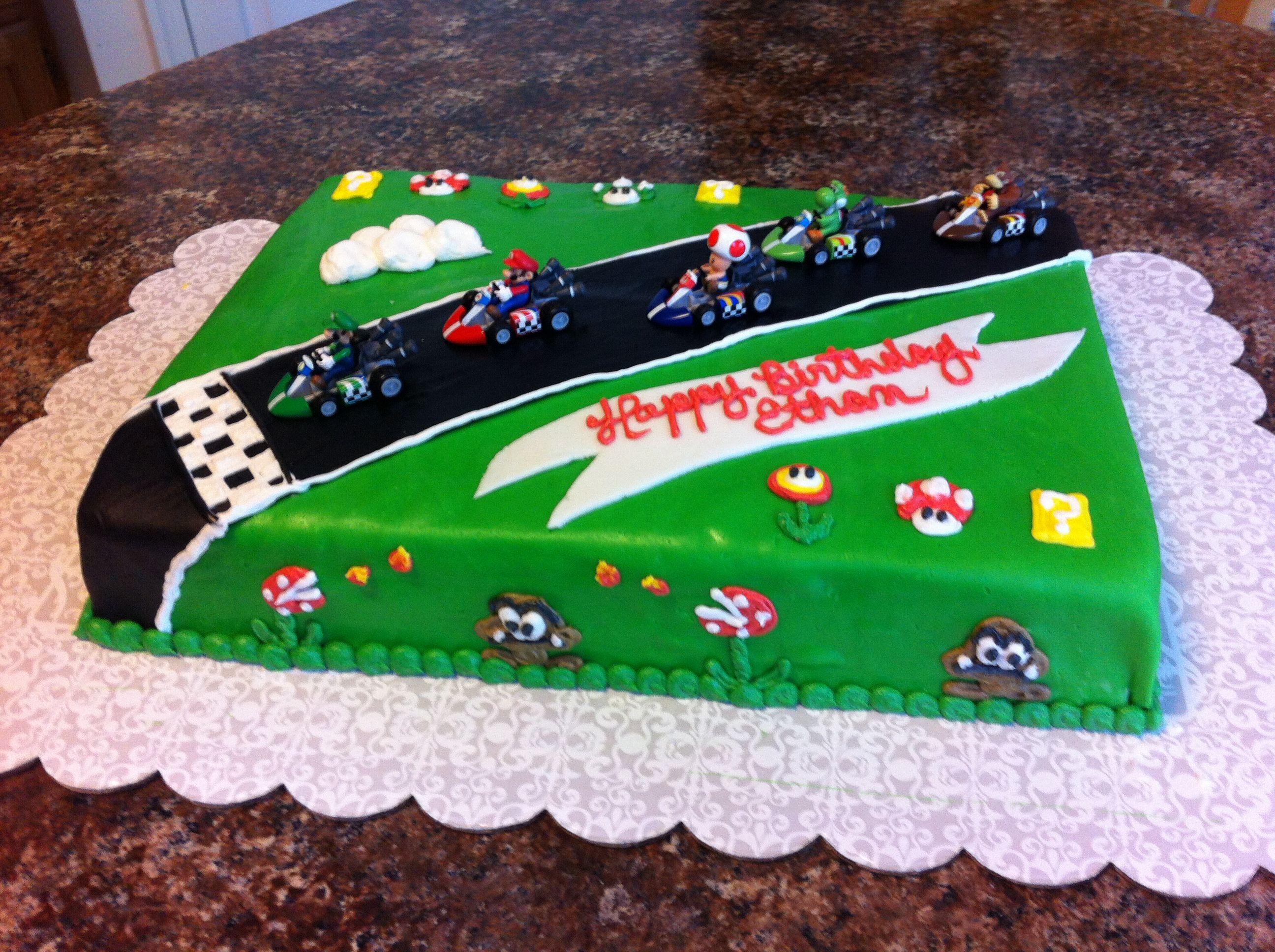 Mario Race Car Cake Looky What I Made Pinterest Car Cakes