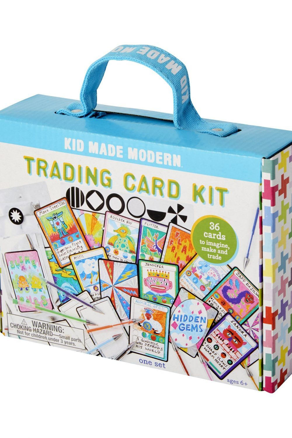 Kid Made Modern Trading Card Kit Perfect Rainy Day Or Play Date Activity Makes A Great Gift Ages 6 And Up Includes 36 Tradi Card Kit Cards Trading Cards