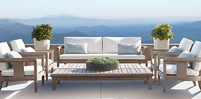Coronado - Weathered Grey Teak (Outdoor Furniture CG)  Restoration Hardware