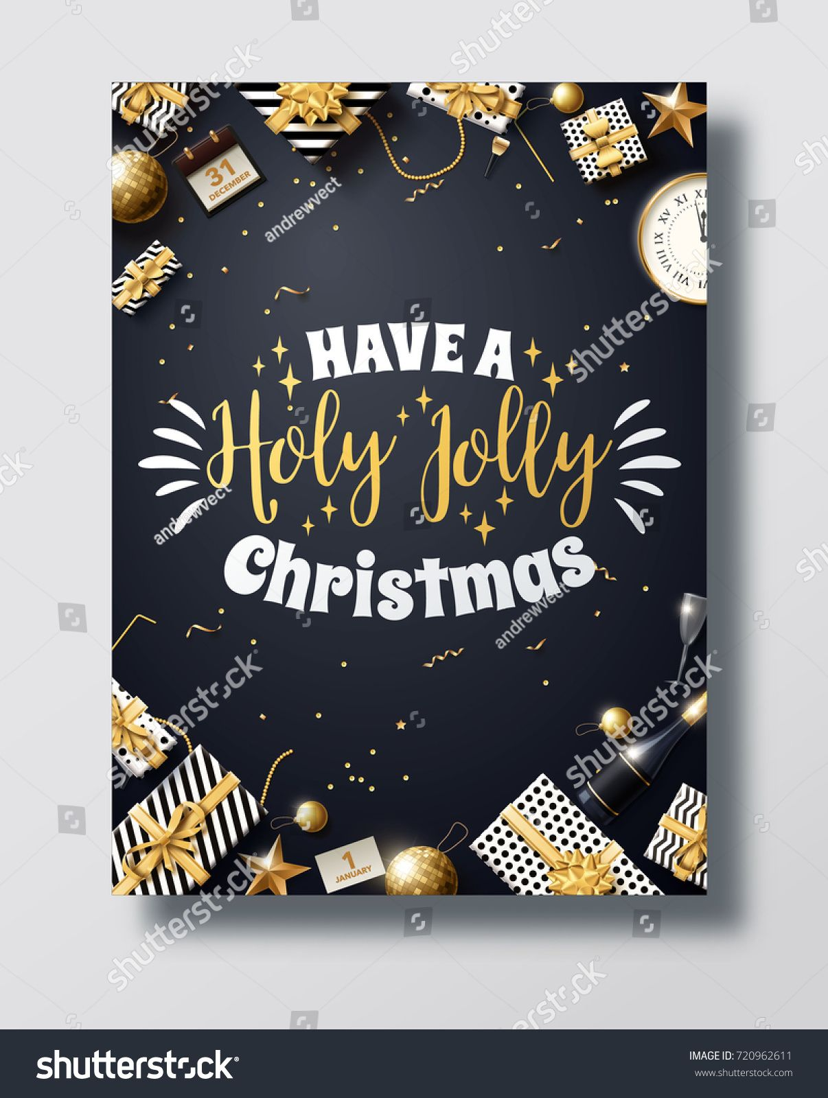 vector illustration of happy new year 2018 gold and black